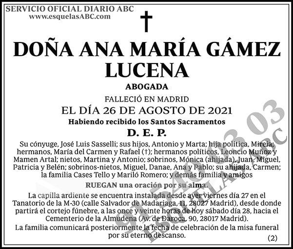Ana María Gámez Lucena