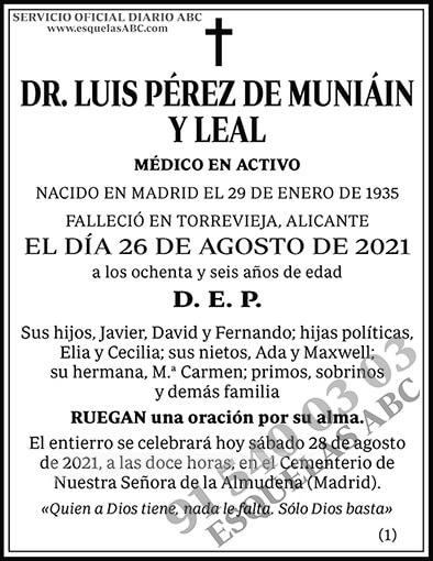 Luis Pérez de Muniáin y Leal