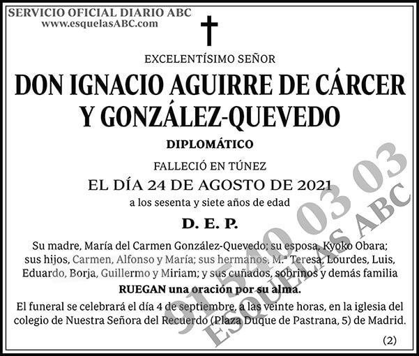 Ignacio Aguirre de Cáncer y Gonzálo-Quevedo