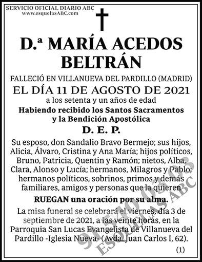 María Acedos Beltrán