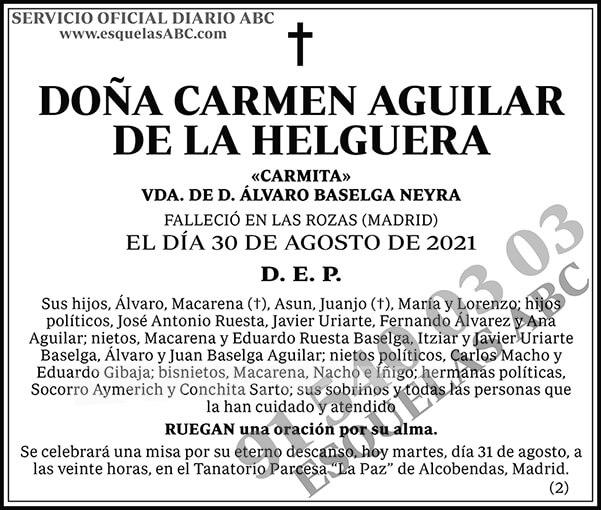 Carmen Aguilar de la Helguera