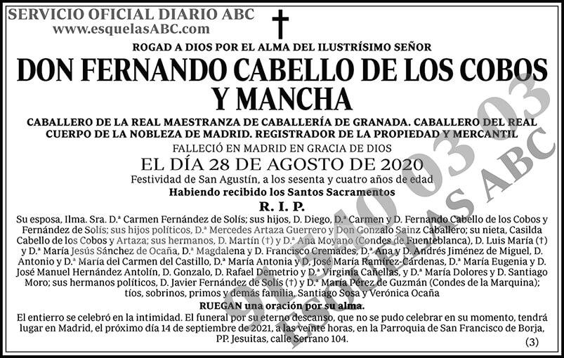 Fernando Cabello de los Cobos y Mancha