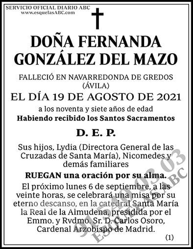 Fernanda González del Mazo