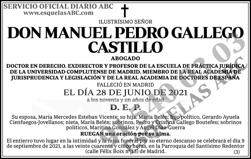 Manuel Pedro Gallego Castillo