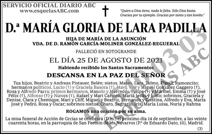 María Gloria de Lara Padilla
