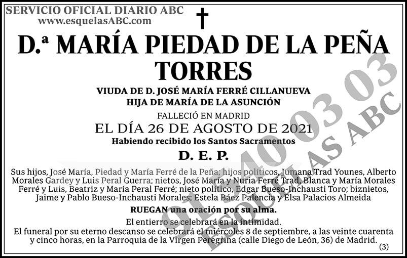 María Piedad de la Peña Torres