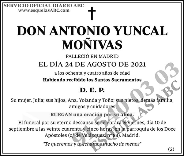 Antonio Yuncal Moñivas