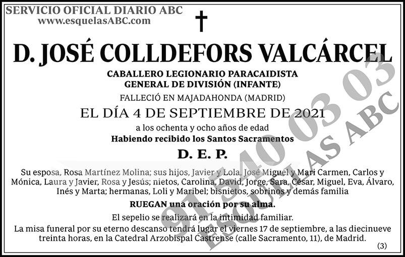 José Colldefors Valcárcel