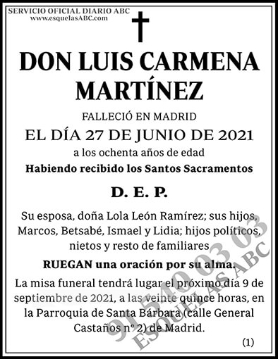 Luis Carmena Martínez
