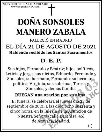 Sonsoles Manero Zabala