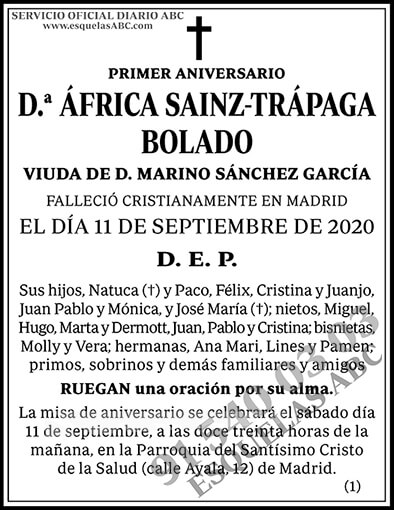 África Sainz-Trápaga Bolado