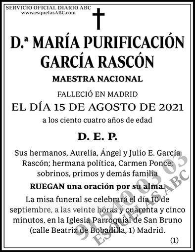 María Purificación García Rascón