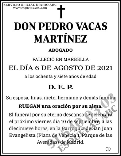 Pedro Vacas Martínez