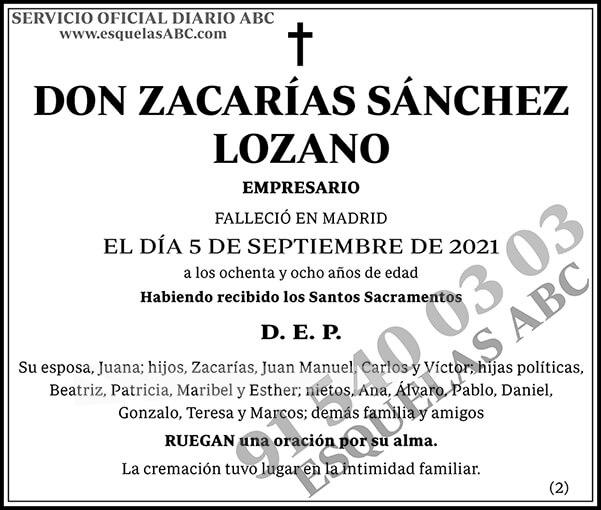 Zacarías Sánchez Lozano