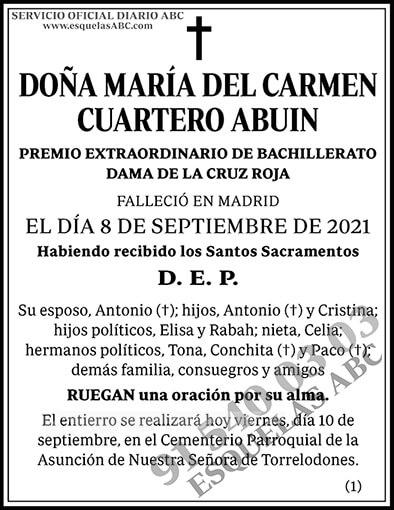 María del Carmen Cuartero Abuin