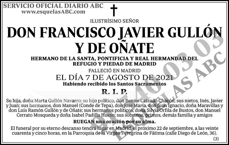 Francisco Javier Guillón y de Oñate