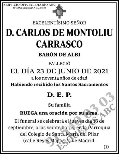 Carlos de Montoliu Carrasco