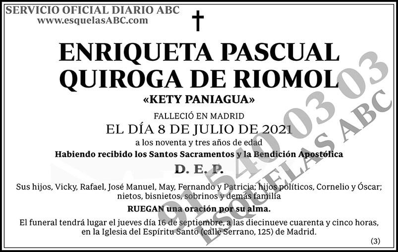 Enriqueta Pascual Quiroga de Riomol