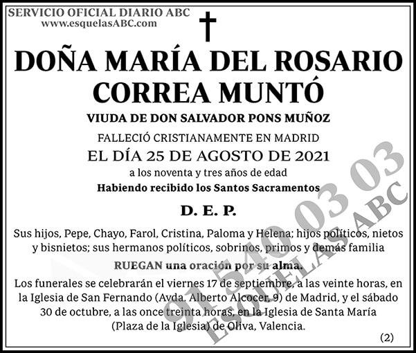 María del Rosario Correa Muntó