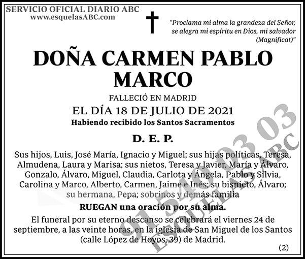 Carmen Pablo Marco