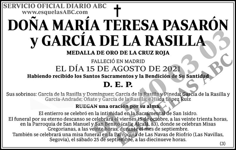 María Teresa Pasarón y García de la Rasilla