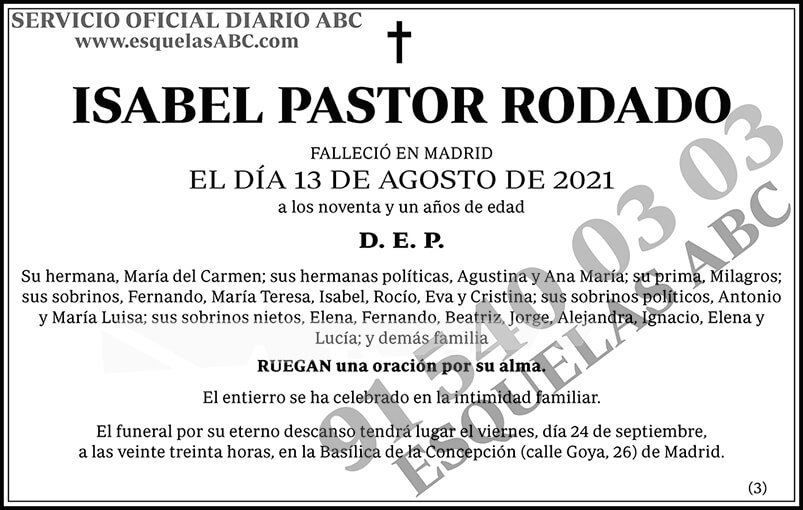 Isabel Pastor Rodado