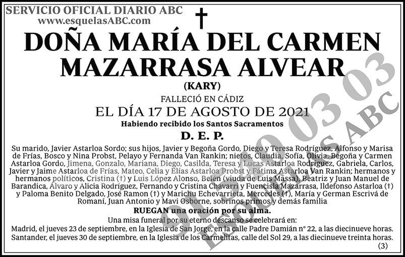 María del Carmen Mazarrasa Alvear