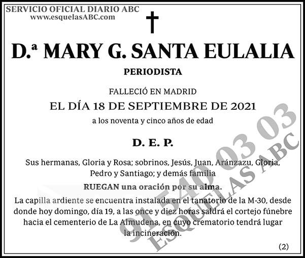 Mary G. Santa Eulalia