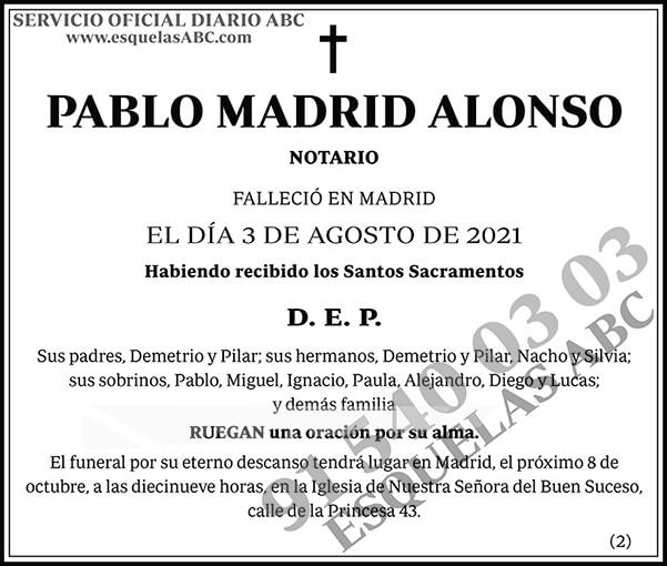 Pablo Madrid Alonso