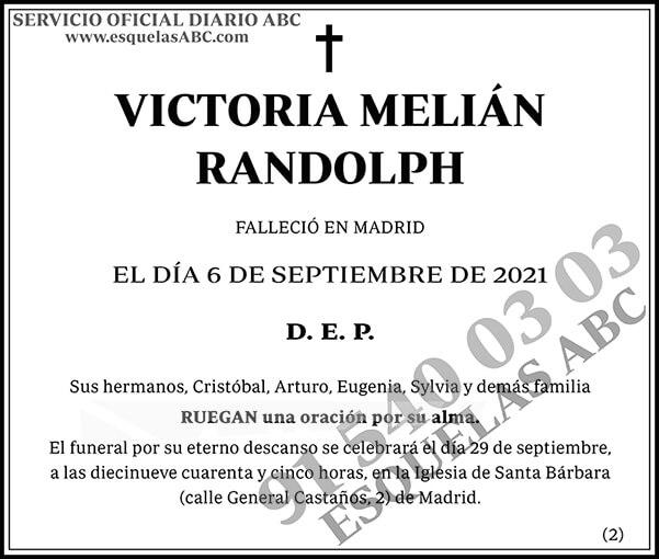 Victoria Melián Randolph