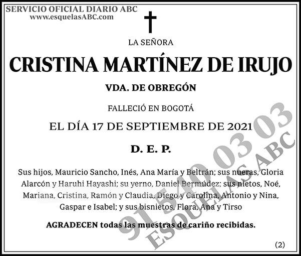 Cristina Martínez de Irujo