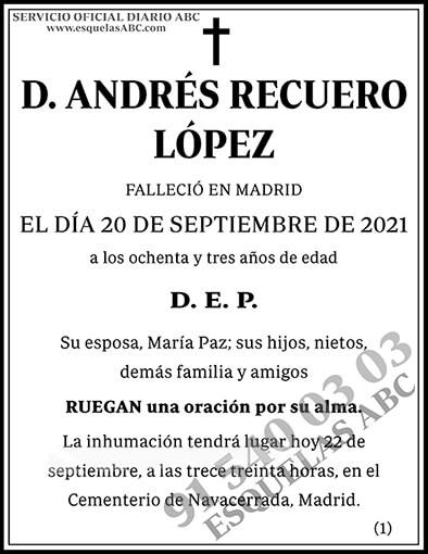 Andrés Recuerdo López