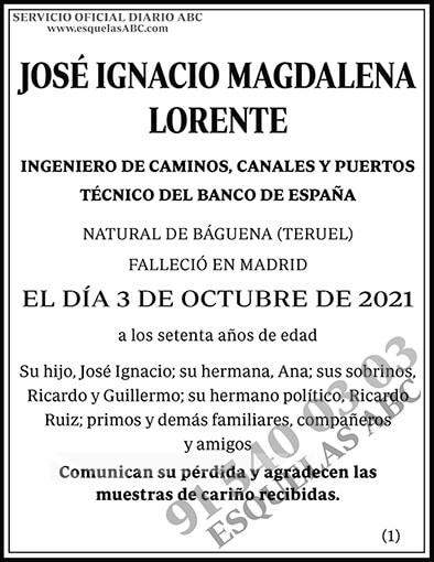 José Ignacio Magdalena Lorente