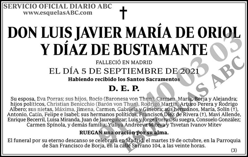 Luis Javier María de Oriol y Díaz de Bustamante