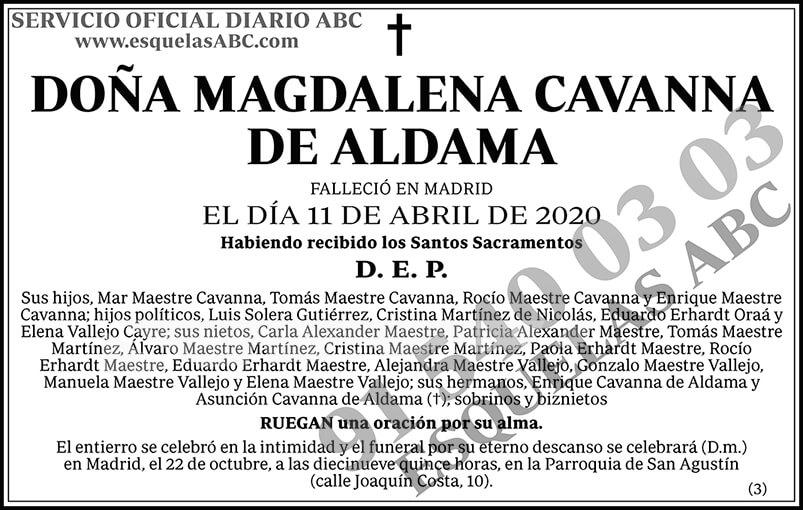 Magdalena Cavanna de Aldama
