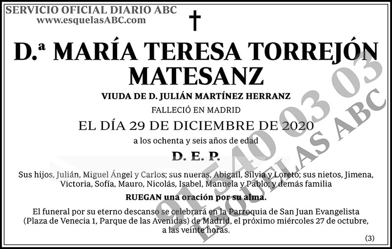 María Teresa Torrejón Matesanz