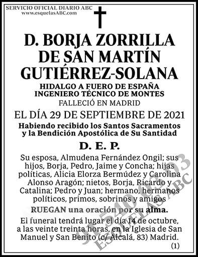Borja Zorrilla de San Martín Guitérrez-Solana