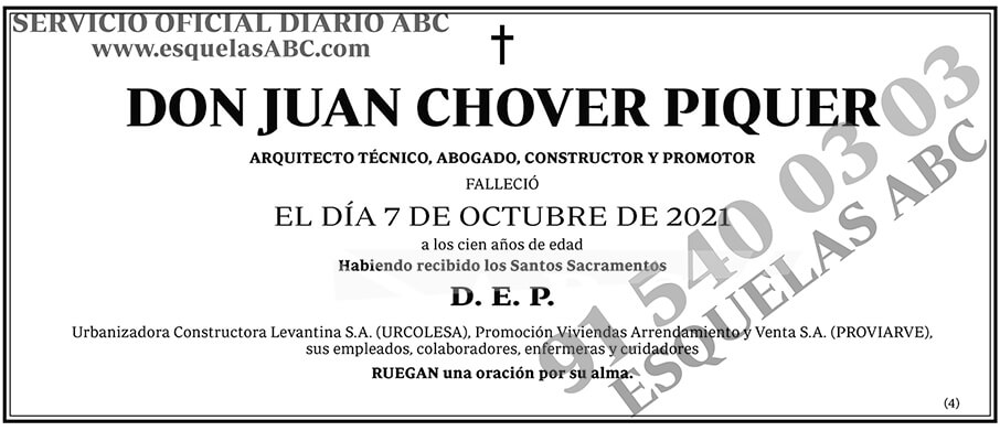 Juan Chover Piquer