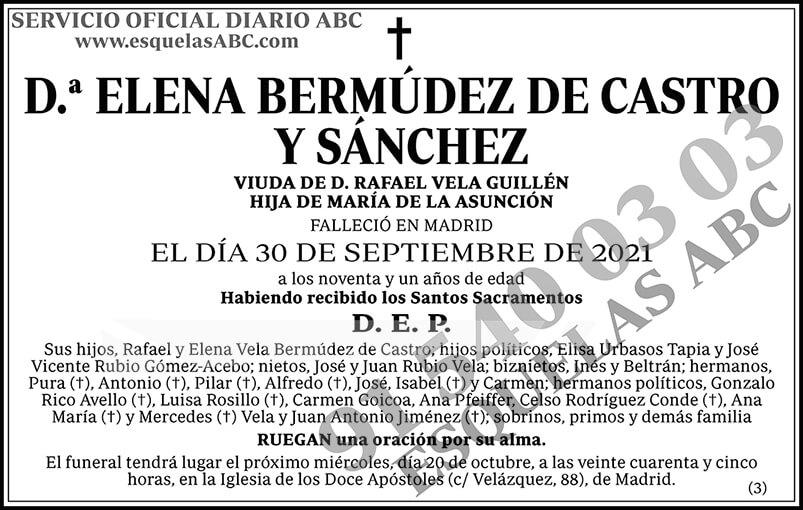 Elena Bermúdez de Castro y Sánchez