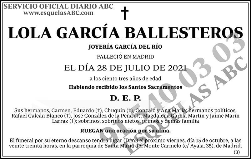 Lola García Ballesteros